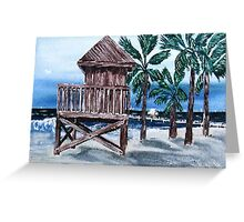 A Rustic Guard Tower Greeting Card