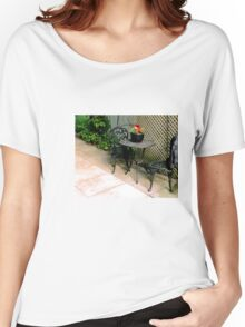 pretty, vintage, table and chairs Women's Relaxed Fit T-Shirt