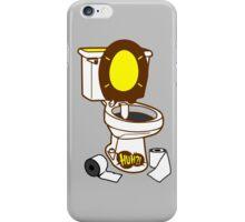 Toilet seat with onomatopoeia huh pop art sound  iPhone Case/Skin