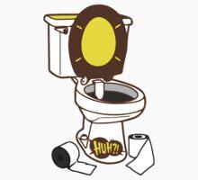 Toilet seat with onomatopoeia huh pop art sound  Kids Clothes