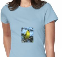 Male North American Goldfinch  Womens Fitted T-Shirt