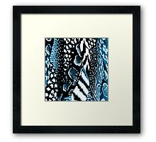 Black and Blue Animal Skin Print Framed Print