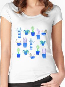 Succulents Women's Fitted Scoop T-Shirt