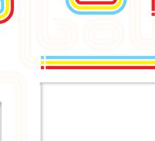 Rainbow Lines Sticker