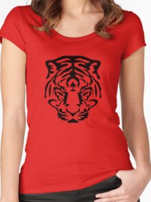 tiger animal wild lion Women's Fitted Scoop T-Shirt