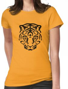 tiger animal wild lion Womens Fitted T-Shirt