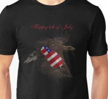 Happy 4th of July- Eagle, Feather, Flag Unisex T-Shirt
