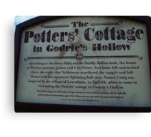 The Potter's Cottage sign Canvas Print