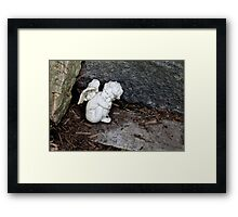 Baby Angel Statue Framed Print