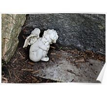 Baby Angel Statue Poster