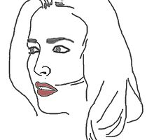 Gillian Anderson Sketch by Presumably