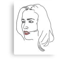Gillian Anderson Sketch Metal Print