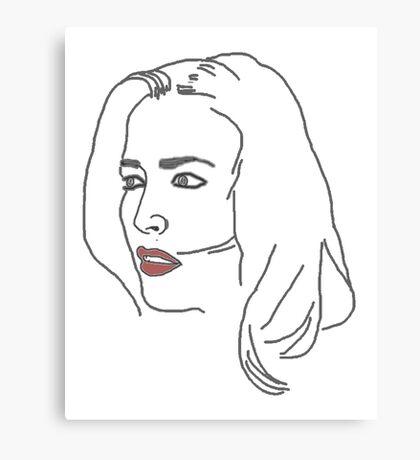 Gillian Anderson Sketch Canvas Print