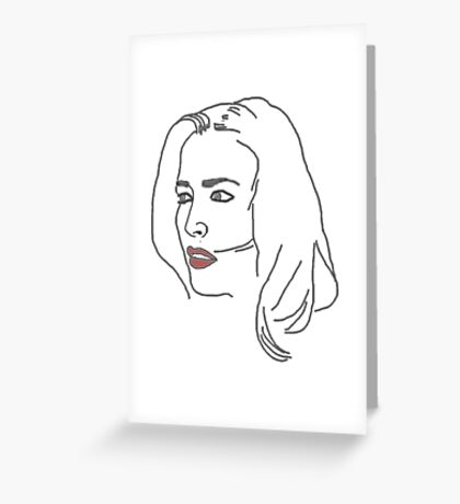 Gillian Anderson Sketch Greeting Card