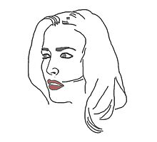 Gillian Anderson Sketch Photographic Print