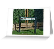 Privet Drive Greeting Card