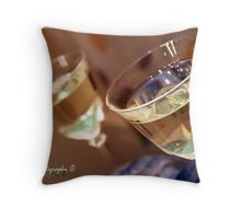 Wine Glasses Throw Pillow