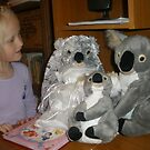 Olivia and Koala Family by Anthea  Slade