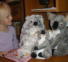 Olivia and Koala Family by Anthea  Slade