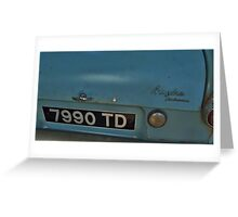 The Weasley's Ford Anglia  Greeting Card