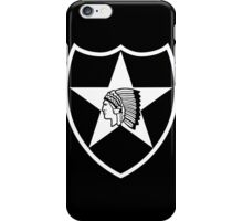 2nd Infantry stencil iPhone Case/Skin