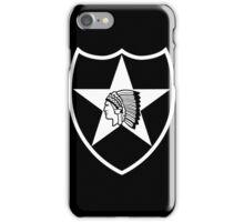2nd Infantry stencil iPhone Case/Skin