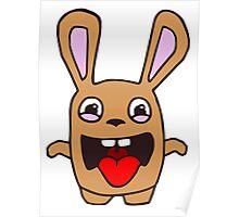 rabbit lapin funny cartoon Poster