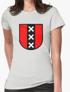 amsterdam triple xxx holland  Netherlands Womens Fitted T-Shirt