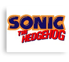 Sonic the Hedgehog Logo Canvas Print