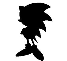 Classic Sonic Silhouette 2 - Black by 4xUlt
