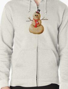 Sand Snowman! Zipped Hoodie