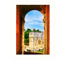Repeating Arches of Roma - Arch of Constantine Art Print