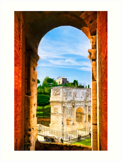 Repeating Arches of Roma - Arch of Constantine by Mark Tisdale