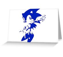 Minimalist Sonic 7 Greeting Card
