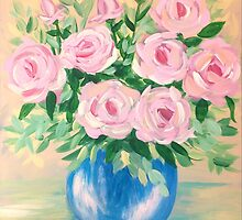 Pink Flowers by Lynn Wright