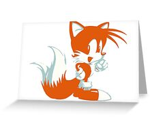 Minimalist Tails 2 Greeting Card