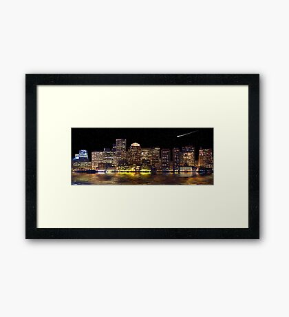 Boston City Scape Framed Print