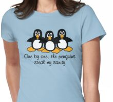One by One The Penguins  Womens Fitted T-Shirt
