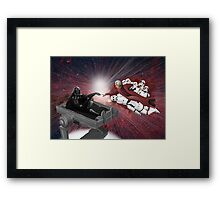 CREATION OF VADER Framed Print