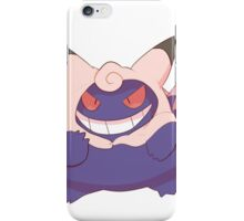 Gengar cosplaying Clefable iPhone Case/Skin