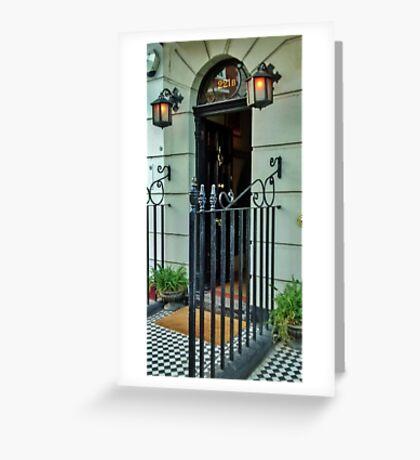 221b Baker Street Greeting Card