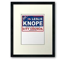 Vote Leslie Knope 2012 Framed Print