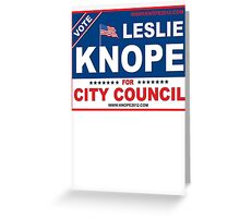 Vote Leslie Knope 2012 Greeting Card