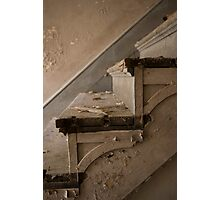 Rotting stairs at the NJ school for the feeble minded Photographic Print