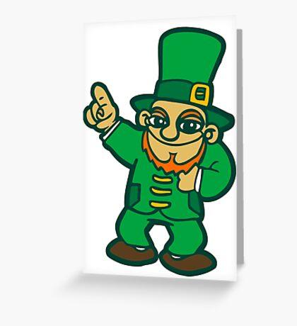 irish leprechaun st patrick beer  faery Greeting Card
