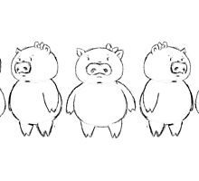 Dancing Piggy sketch by MariaDiaz
