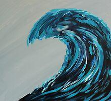 Ocean Waves at Night by TeacherPainter