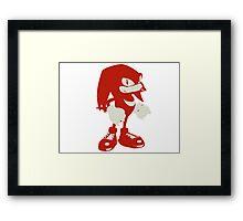 Minimalist Knuckles Framed Print