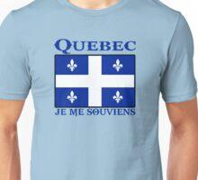 quebec  canada je me souviens  montreal Unisex T-Shirt