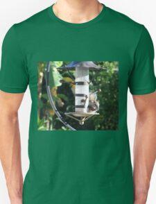 Squirrel On Backyard Bird Feeder Unisex T-Shirt